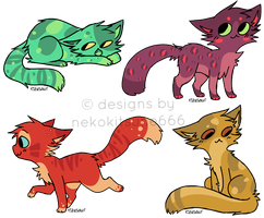 Cat Adoptables : Name your price - OPEN by SpottedpeIt