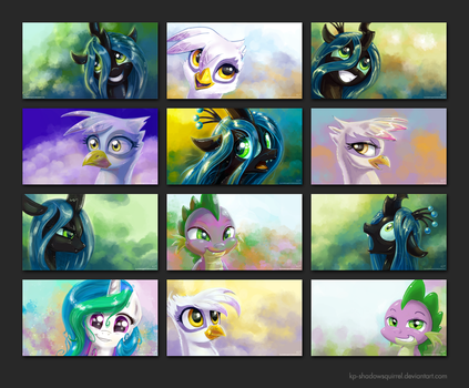 MLP:FIM Portrait Wallpapers by KP-ShadowSquirrel