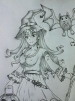 Trick Or Treat halloween girl by chris-reen