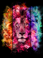 Coloured Lion by Maniakuk
