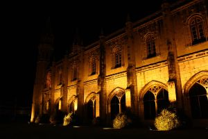 Jeronimos at night by thespiritcarrieson