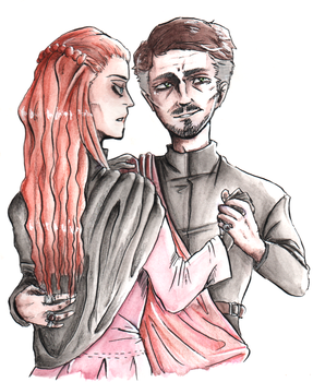 Petyr+Sansa by Bloodfool