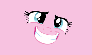 PinkiePie Minimum smile wallpaper by RaverMonki