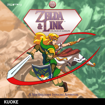 Zelda + Link: Evil Faces of Slamelon by kuoke