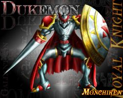 Dukemon Gallantmon-colored by monchiken