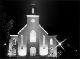 Old Chapel at Night by fuzzbucket