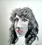Watercolor Practice: Mary Pickford by lucy-hcrker