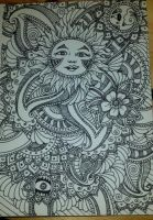 Henna Drawing - The Sun by spirit0407
