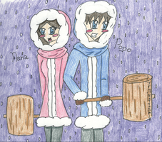 Ice Climbers by TryNotToSmile