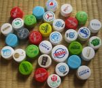 Japanese Bottle Caps by JeanneABeck