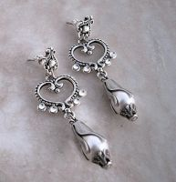 Romantic Crystal Earrings by Aranwen