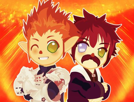 Lalafell Brothers by Berri-Blossom
