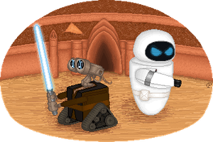 When Wall-e met Star Wars... by Protosuperama