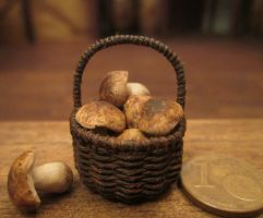 Basket With Mushroom (details) by AtriellMe