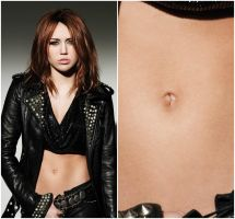 Miley Cyrus belly button by bellybuttonfan