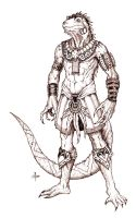 Iguana Warrior by edcomics