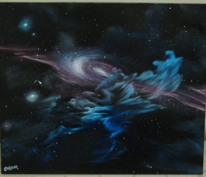 Interrupted Galaxy by crazycolleeny