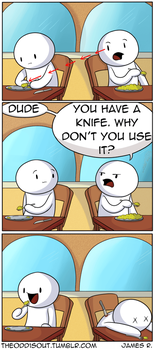 You Have a Knife by theodd1soutcomic