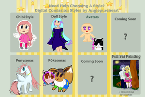 My Comission Styles Info by Angiepureheart