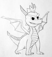 Spyro blk and wht by YugiFanatic69