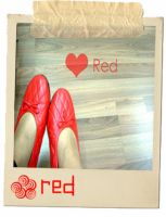 I Love Red -Polaroid by dhilaemon