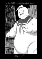 Monster Month - Day 13 - Stay Puft Marshmallow Man by RtRadke