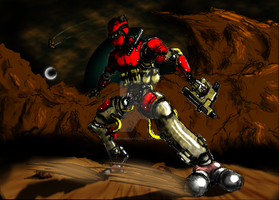 Void Combat Android:  A Robot Space Marine by Randomman187