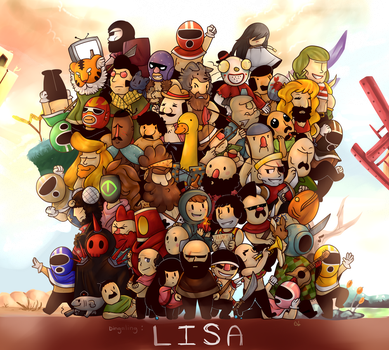 -Lisa: The Painful RPG- (Poster) by Coffee-Evenings
