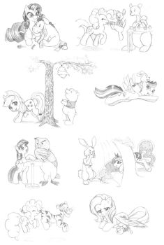 Pooh Pony sketches by dstears