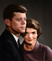 John and Jacqueline Kennedy by Zuzahin