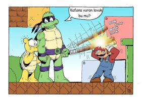 mario vs donatello by eksoz