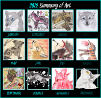 Summary of Art 2012 by ElectricSilence