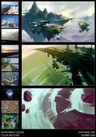 Enviro Design Color Sketches by paper-hero