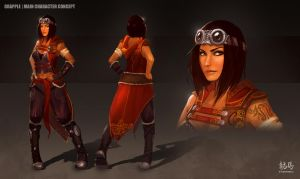Grapple | Main Character Concept by RyomaNinja