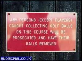 golf sign by tomjones