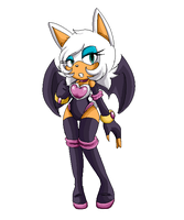 :rouge the bat: by amaichan
