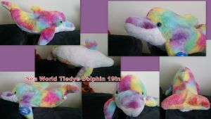 Sea World Tiedye Dolphin 19in by Vesperwolfy87