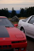 Red and White MKIII Supras by SpeedDodici