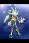 .: Silver the Hedgehog :. by MariahAcorn