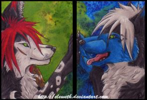 Double ACEO CM: Elements by Eleweth