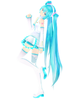 .: DL Series :. White TDA Default Hatsune Miku by Duekko