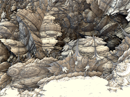 strange fossils and sedimentary rock by j5rson