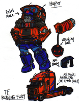 Transformers: Burning Fury - Huffer by KrytenMarkGen-0