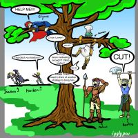 Marcus vs the Tree round 2 by igglypou