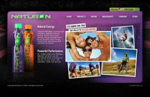 Naturon Sports Drink Website by Cameron-Schuyler