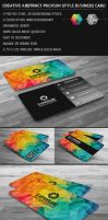 Creative Abstract Cubism Polygon Business Card by mrsbadbugs