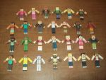 Total Drama MC Papercrafts 2nd and 3rd Gen by henryca03