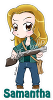 Keychain Samantha by HeroesDaughter