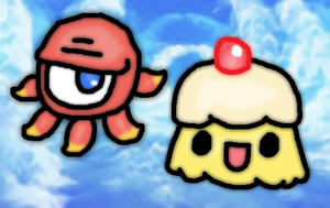 Kid icarus uprising-monoeye and souflee by thegamingdrawer