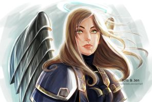 Commission. Angel by jen-and-kris